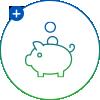 ICYNENE ikona úspora nákladů