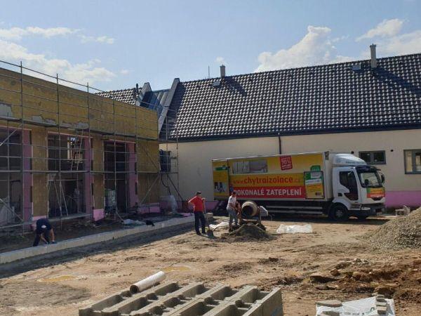 Izolace nové budovy firmy u Soběslavi