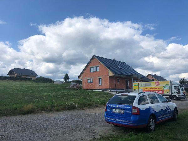 Zateplení podkroví domu v Horažďovicích