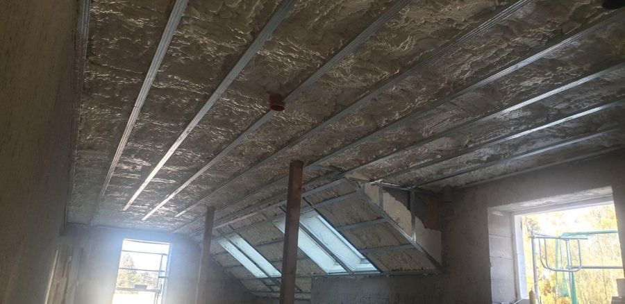 Zateplení podkroví bytového domu v Klatovech