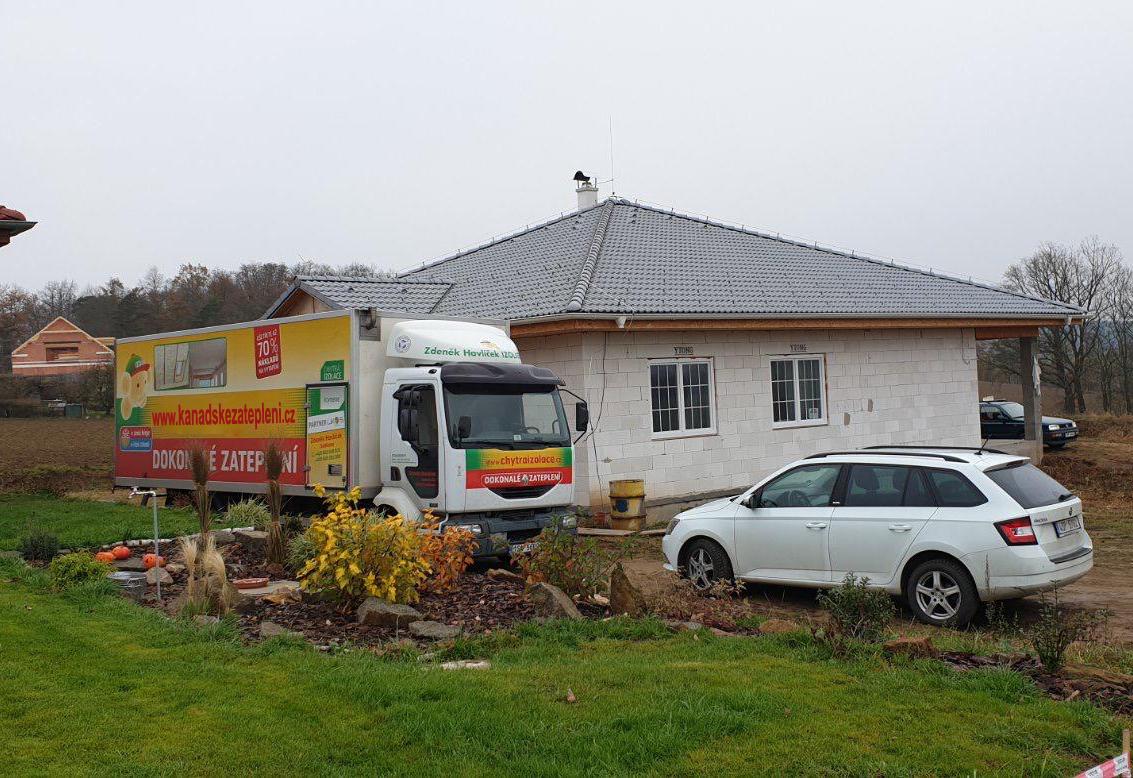 Zateplení bungalovu Roudný u Sedlčan