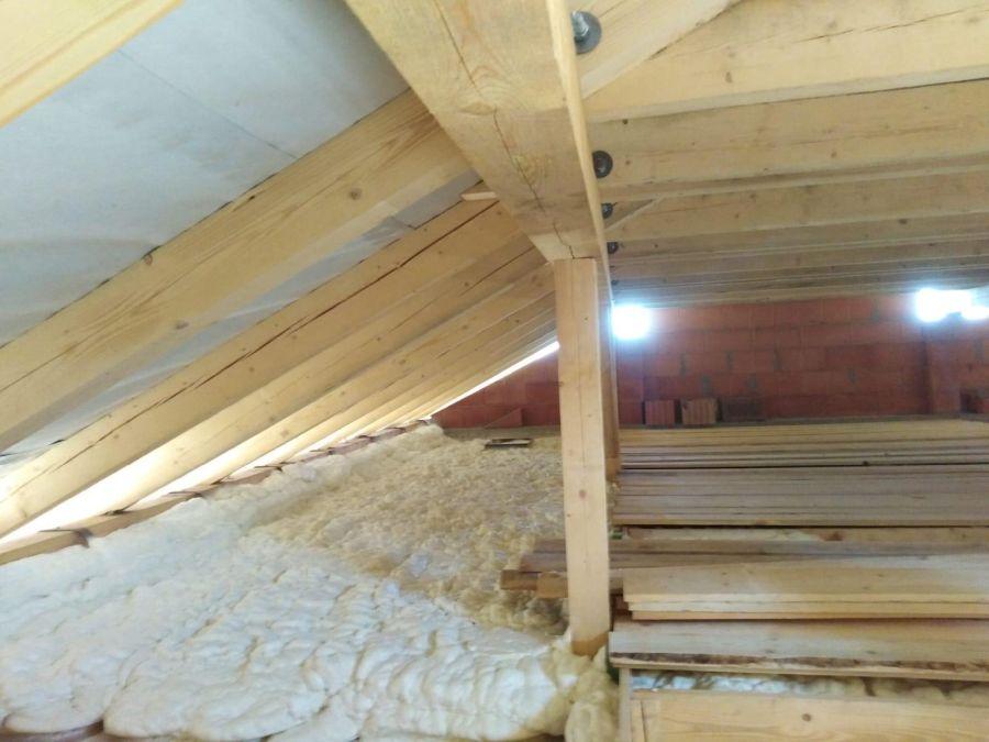 Zateplení stropu bungalovu v obci Kouty