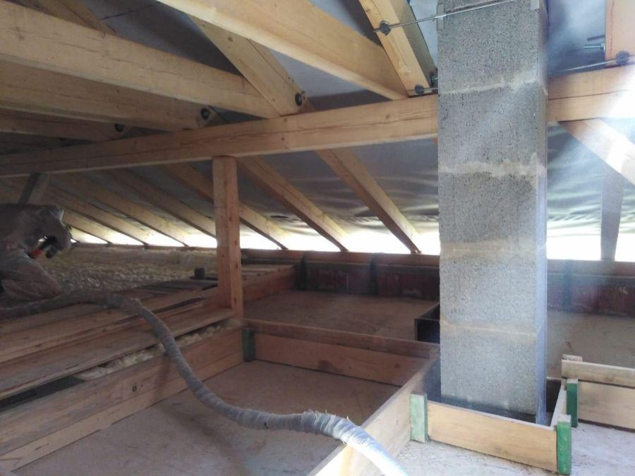 Zateplení betonového stropu bungalovu v obci Kouty
