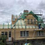 Zateplení izolace ICYNENE střecha shora Praha