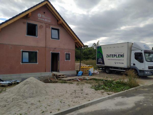 Zateplení skládaného domu v Habartově