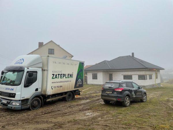 Zateplení stropu bungalovu v Křižanově